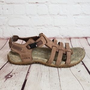 LL Bean Leather Strappy Sandals with Side Buckle